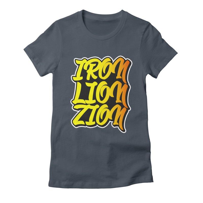Iron Lion Zion Women's Fitted T-Shirt by Rasta University Shop