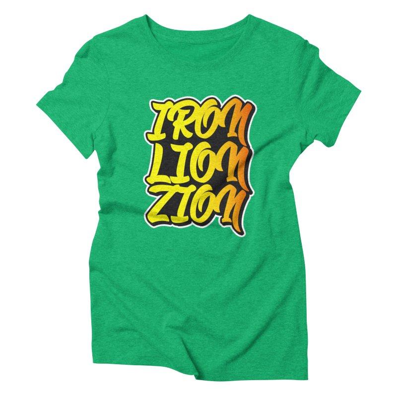 Iron Lion Zion Women's Triblend T-shirt by Rasta University Shop
