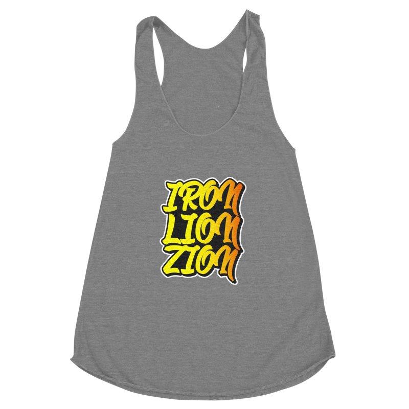 Iron Lion Zion Women's Racerback Triblend Tank by Rasta University Shop