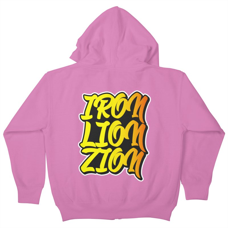 Iron Lion Zion Kids Zip-Up Hoody by Rasta University Shop