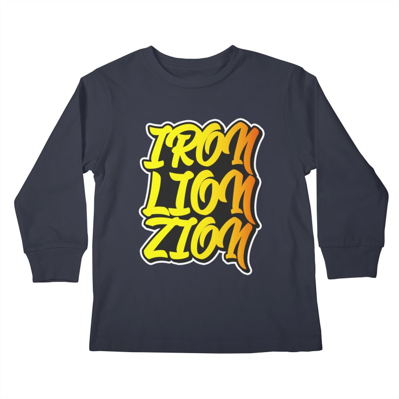 Iron Lion Zion Kids Longsleeve T-Shirt by Rasta University Shop
