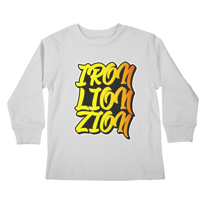 Iron Lion Zion Kids Longsleeve T-Shirt by Rasta University Shop