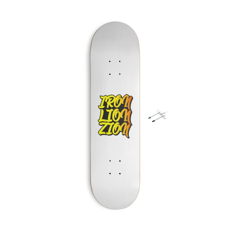 Iron Lion Zion Accessories With Hanging Hardware Skateboard by Rasta University Shop