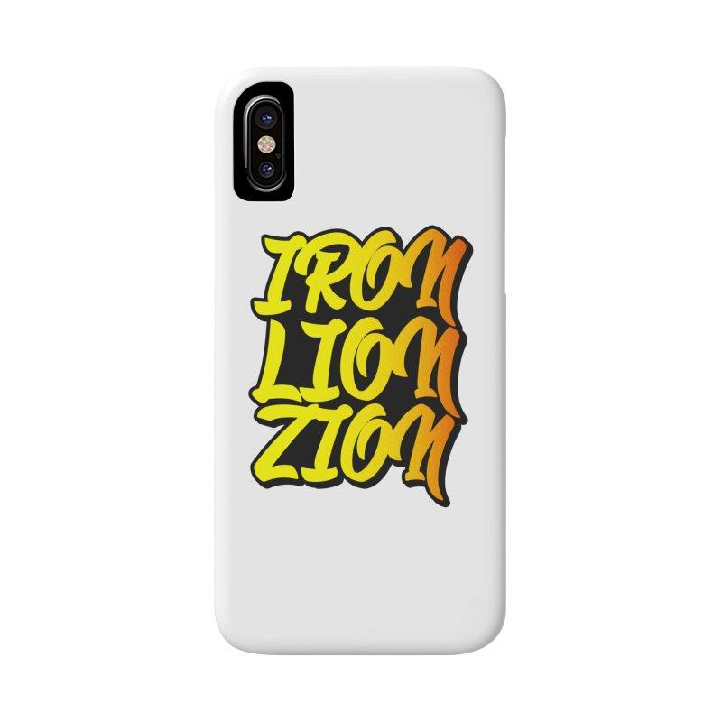 Iron Lion Zion Accessories Phone Case by Rasta University Shop