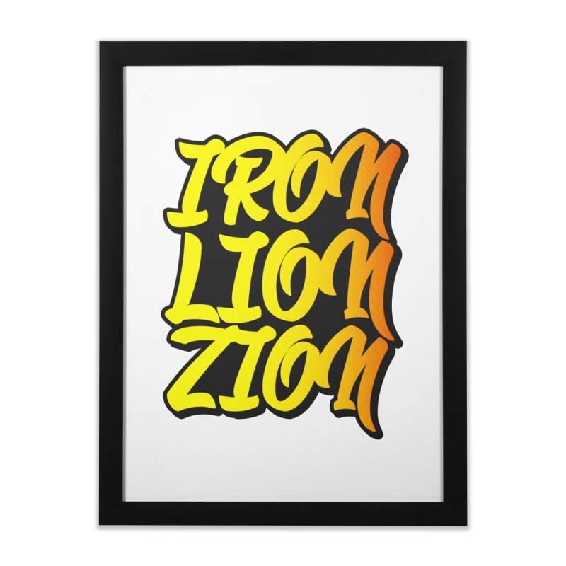 Iron Lion Zion Home Framed Fine Art Print by Rasta University Shop