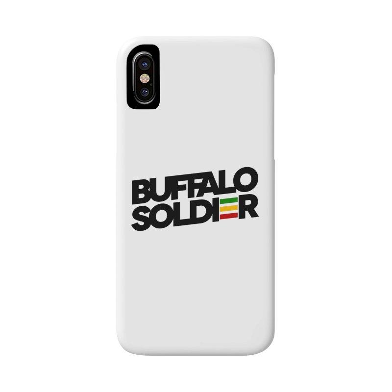 Buffalo Soldier (Dark) Accessories Phone Case by Rasta University Shop