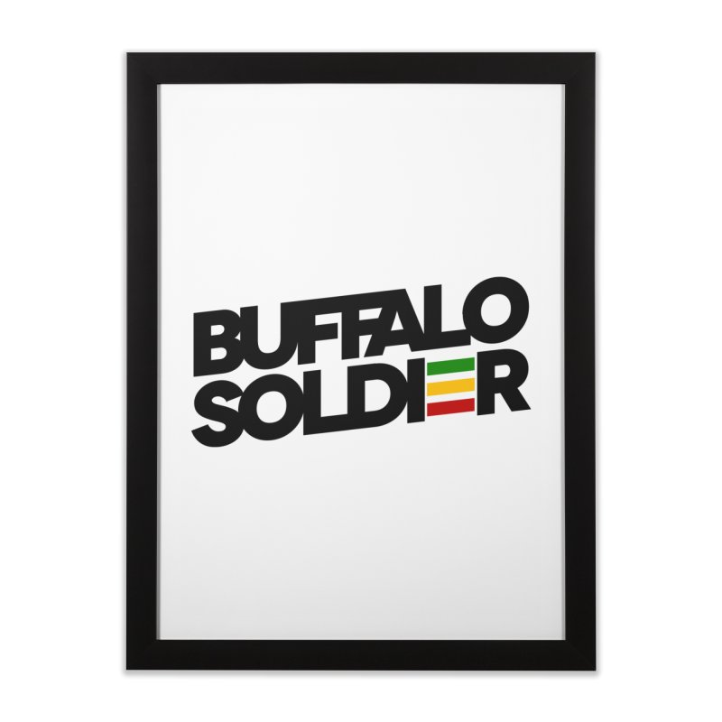 Buffalo Soldier (Dark) Home Framed Fine Art Print by Rasta University Shop