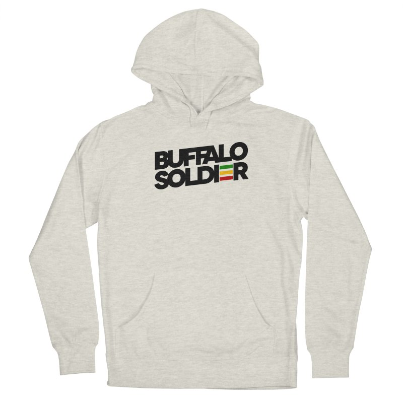 Buffalo Soldier (Dark) Men's French Terry Pullover Hoody by Rasta University Shop