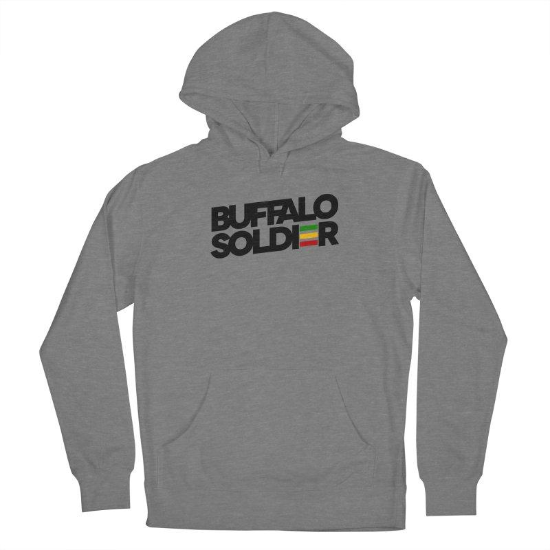 Buffalo Soldier (Dark) Women's French Terry Pullover Hoody by Rasta University Shop