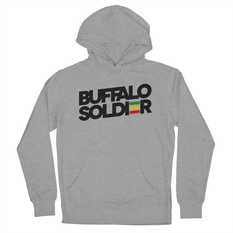 Buffalo Soldier (Dark) Men's French Terry Pullover Hoody by Rasta University Shop