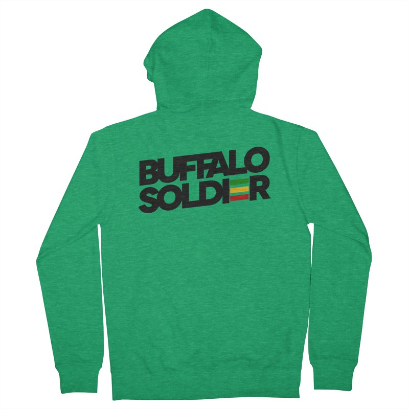 Buffalo Soldier (Dark) Women's Zip-Up Hoody by Rasta University Shop