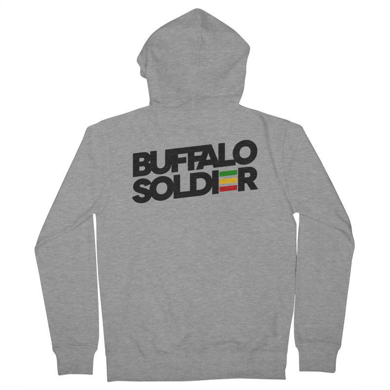 Buffalo Soldier (Dark) Women's French Terry Zip-Up Hoody by Rasta University Shop
