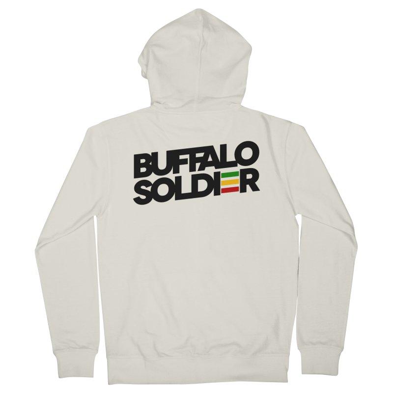 Buffalo Soldier (Dark) Men's Zip-Up Hoody by Rasta University Shop