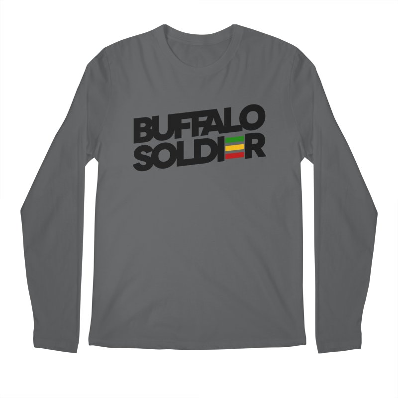 Buffalo Soldier (Dark) Men's Longsleeve T-Shirt by Rasta University Shop