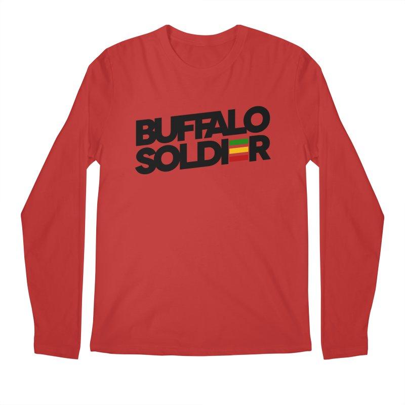 Buffalo Soldier (Dark) Men's Regular Longsleeve T-Shirt by Rasta University Shop