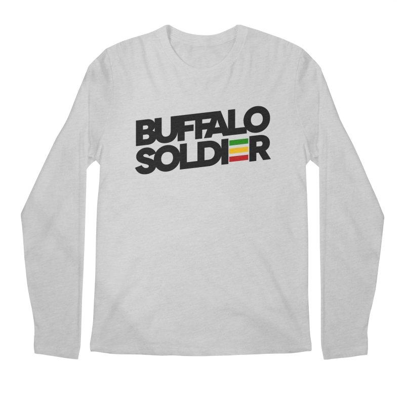 Buffalo Soldier (Dark) Men's Longsleeve T-Shirt by Rasta University Shop