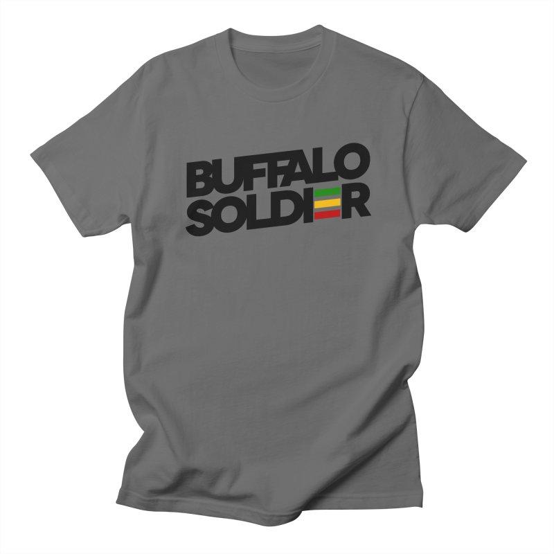 Buffalo Soldier (Dark) Men's Regular T-Shirt by Rasta University Shop