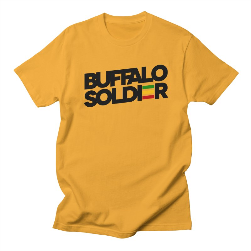Buffalo Soldier (Dark) Men's T-Shirt by Rasta University Shop