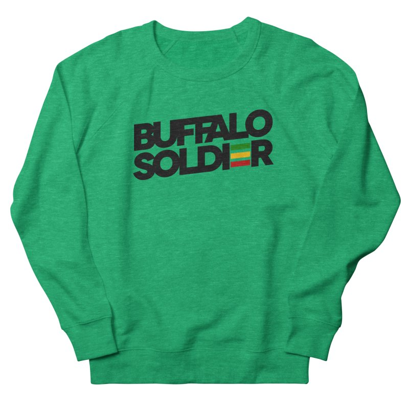 Buffalo Soldier (Dark) Men's French Terry Sweatshirt by Rasta University Shop