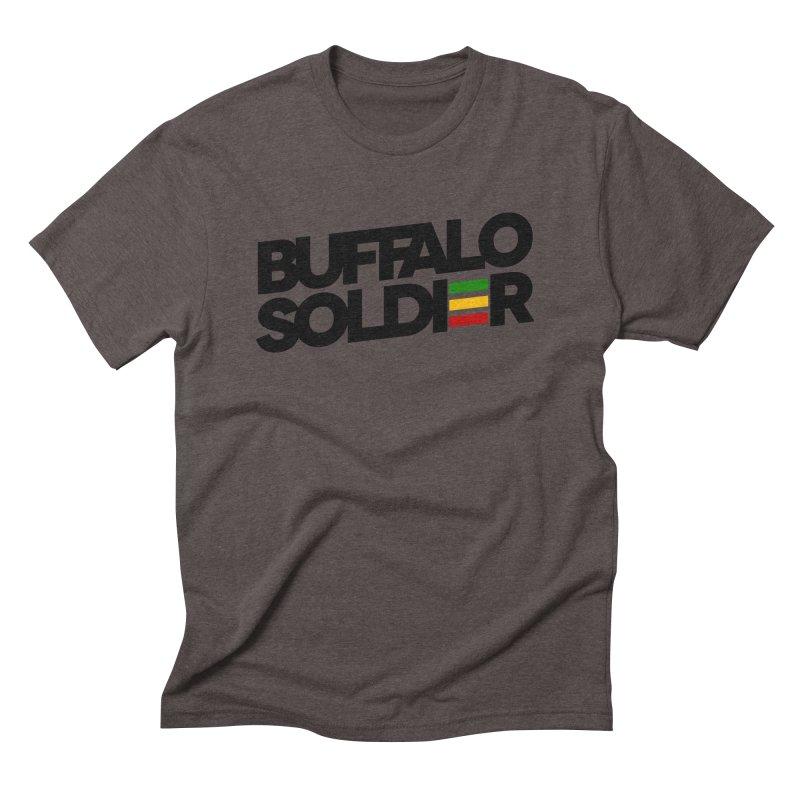 Buffalo Soldier (Dark) Men's Triblend T-shirt by Rasta University Shop