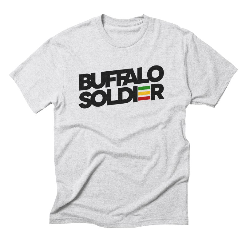 Buffalo Soldier (Dark) Men's Triblend T-Shirt by Rasta University Shop