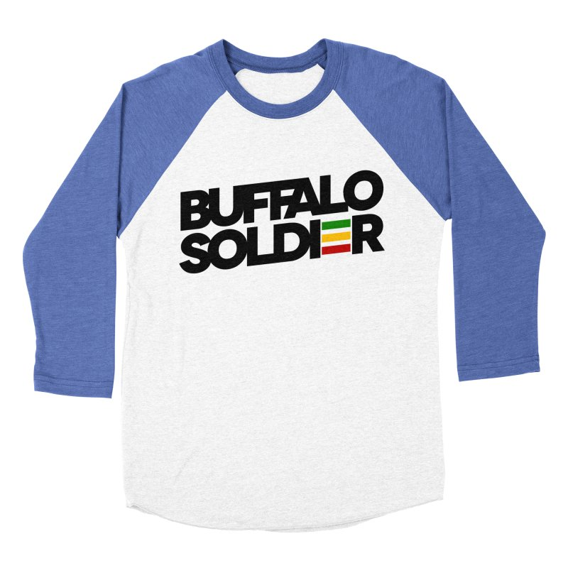 Buffalo Soldier (Dark) Women's Baseball Triblend Longsleeve T-Shirt by Rasta University Shop