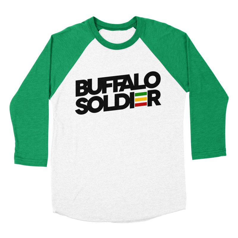 Buffalo Soldier (Dark) Women's Baseball Triblend Longsleeve T-Shirt by Rasta University Shop