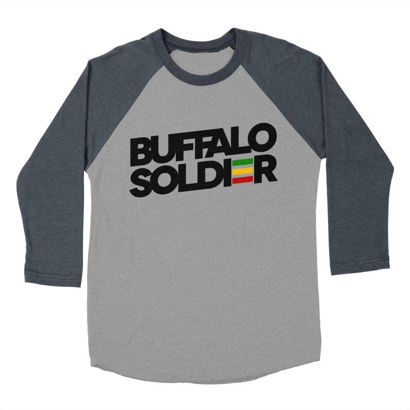 Buffalo Soldier (Dark) Women's Baseball Triblend T-Shirt by Rasta University Shop