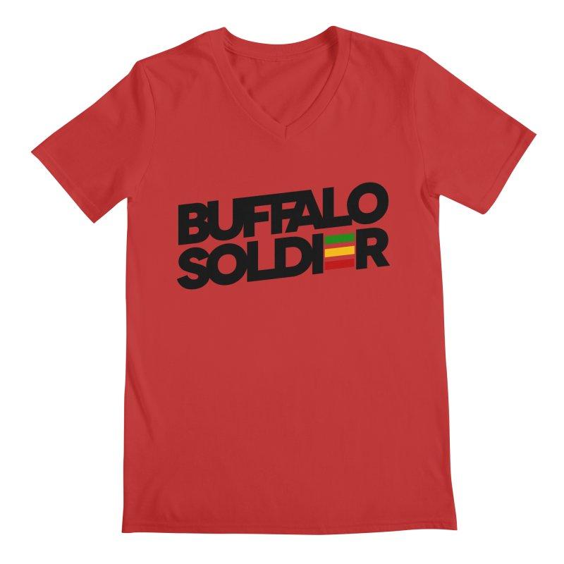 Buffalo Soldier (Dark) Men's V-Neck by Rasta University Shop