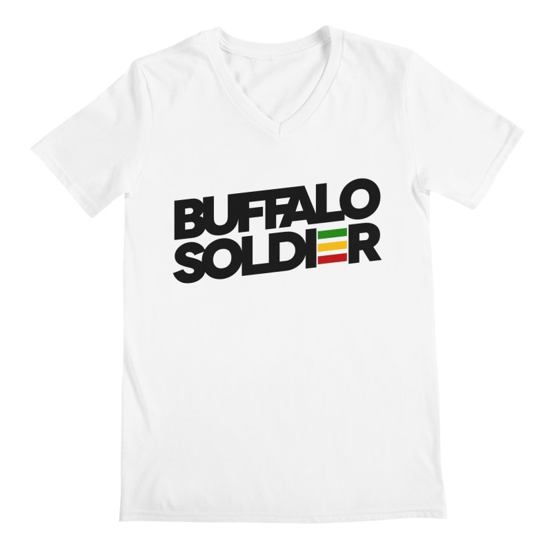 Buffalo Soldier (Dark) Men's Regular V-Neck by Rasta University Shop