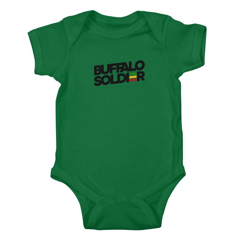 Buffalo Soldier (Dark) Kids Baby Bodysuit by Rasta University Shop