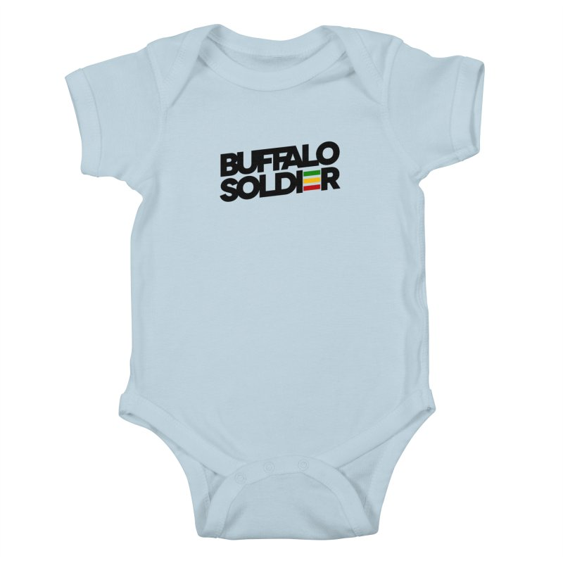 Buffalo Soldier (Dark) Kids Baby Bodysuit by Rasta University Shop