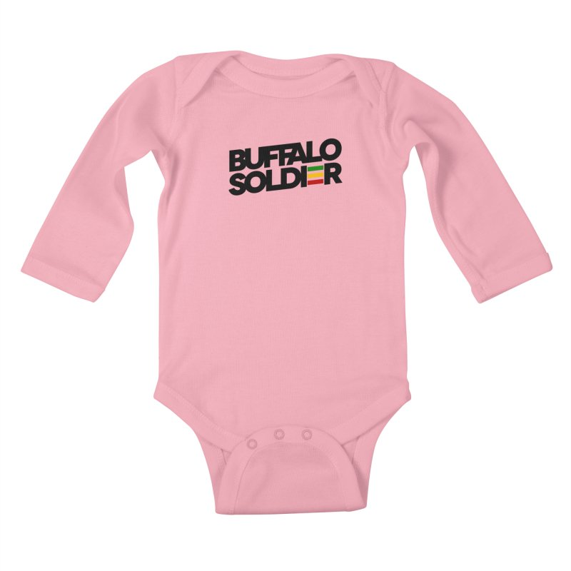 Buffalo Soldier (Dark) Kids Baby Longsleeve Bodysuit by Rasta University Shop
