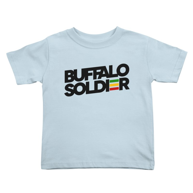 Buffalo Soldier (Dark) Kids Toddler T-Shirt by Rasta University Shop