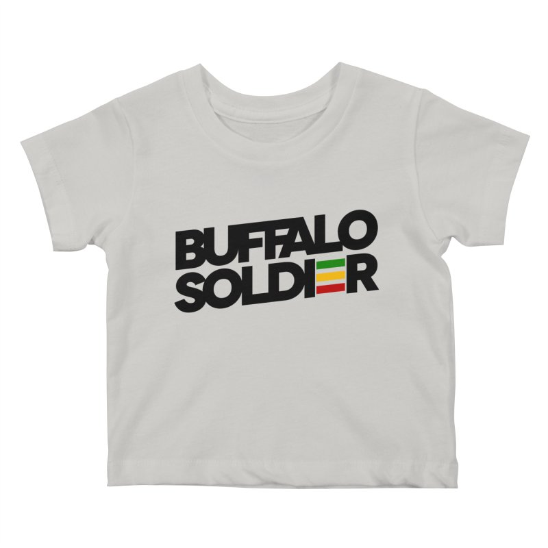 Buffalo Soldier (Dark) Kids Baby T-Shirt by Rasta University Shop