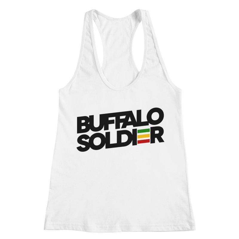 Buffalo Soldier (Dark) Women's Racerback Tank by Rasta University Shop