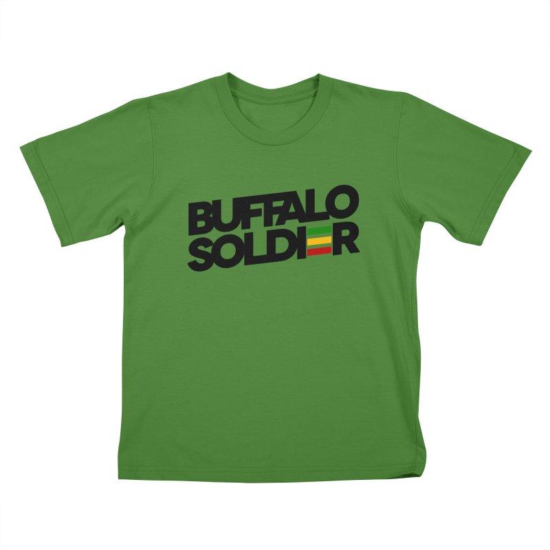 Buffalo Soldier (Dark) Kids T-Shirt by Rasta University Shop