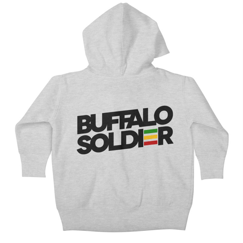 Buffalo Soldier (Dark) Kids Baby Zip-Up Hoody by Rasta University Shop