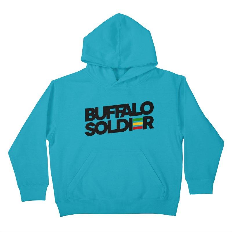 Buffalo Soldier (Dark) Kids Pullover Hoody by Rasta University Shop