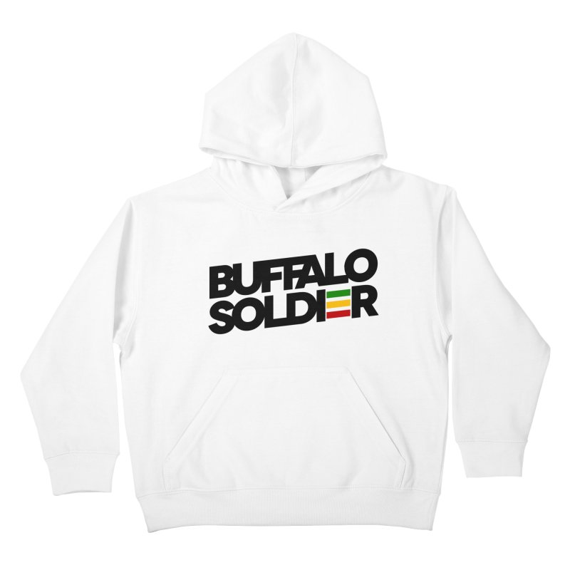 Buffalo Soldier (Dark) Kids Pullover Hoody by Rasta University Shop