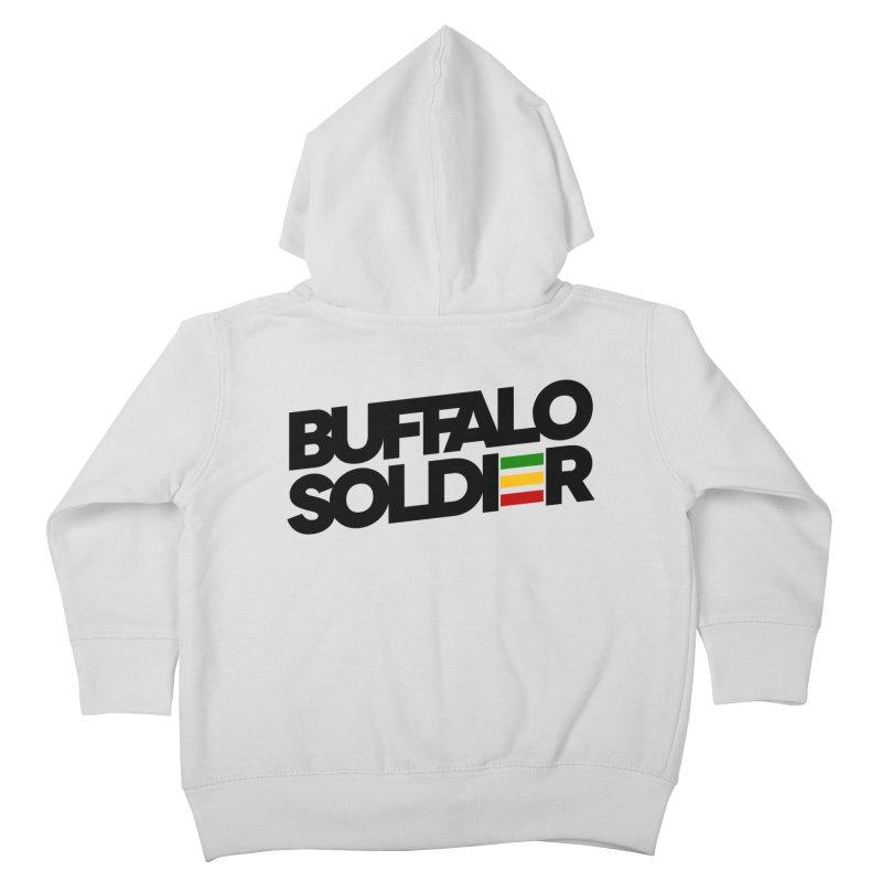 Buffalo Soldier (Dark) Kids Toddler Zip-Up Hoody by Rasta University Shop