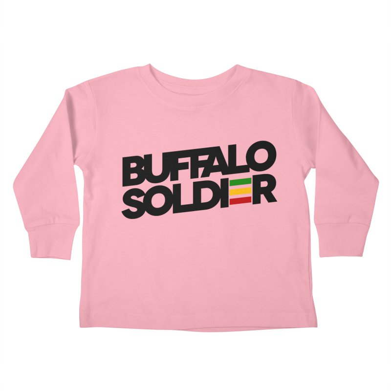 Buffalo Soldier (Dark) Kids Toddler Longsleeve T-Shirt by Rasta University Shop