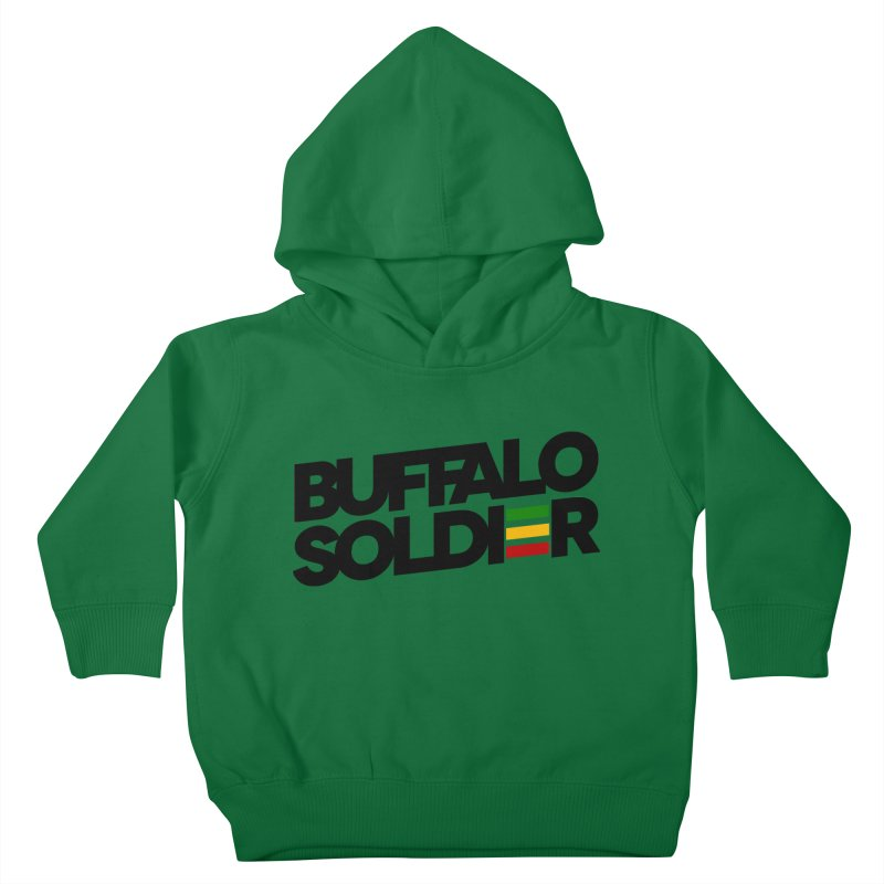 Buffalo Soldier (Dark) Kids Toddler Pullover Hoody by Rasta University Shop