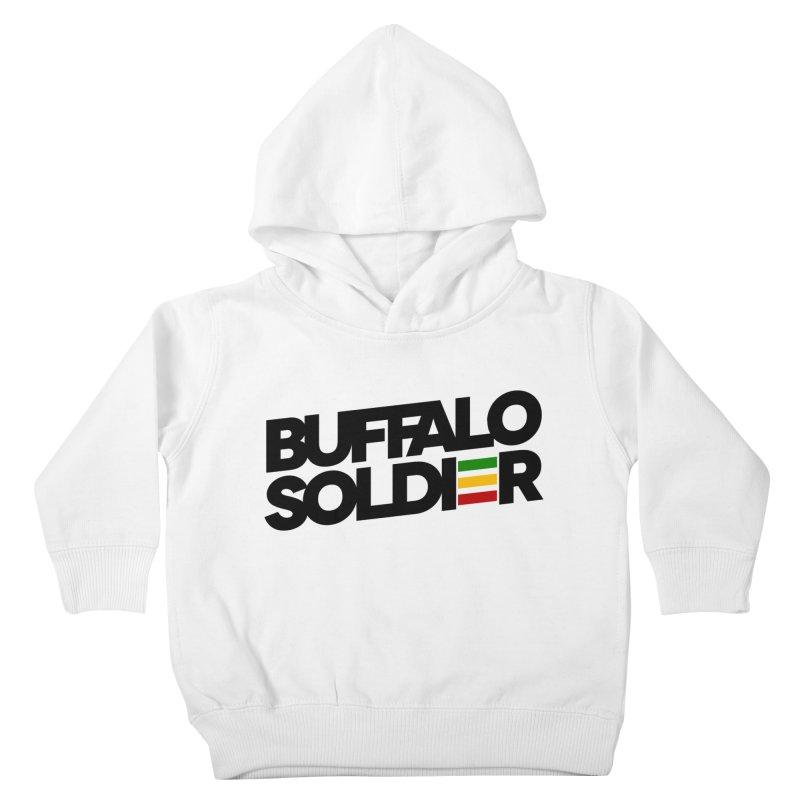 Buffalo Soldier (Dark) Kids Toddler Pullover Hoody by Rasta University Shop