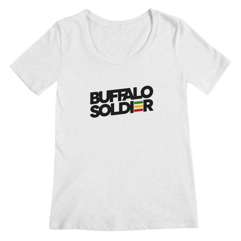 Buffalo Soldier (Dark) Women's Scoopneck by Rasta University Shop