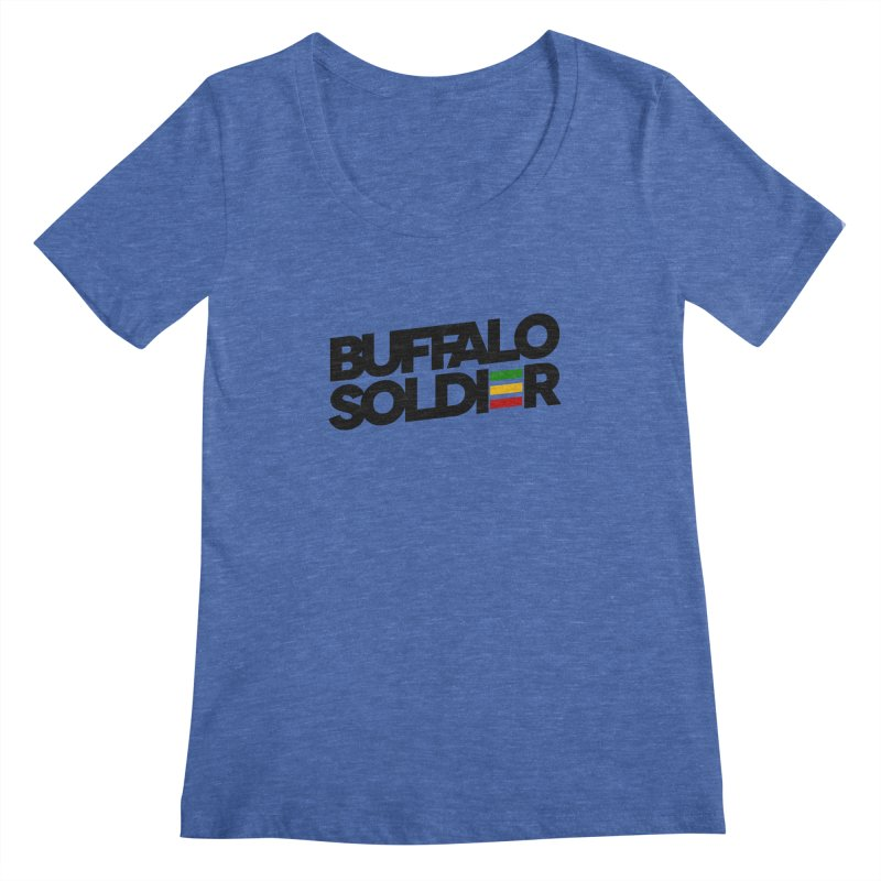 Buffalo Soldier (Dark) Women's Regular Scoop Neck by Rasta University Shop