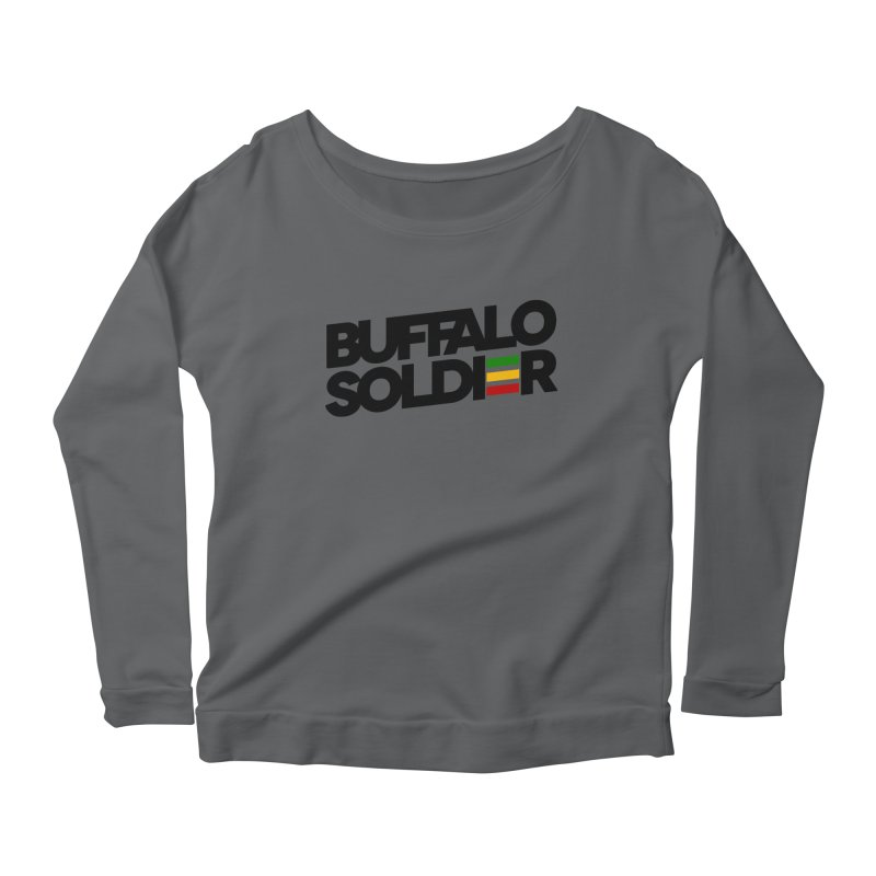 Buffalo Soldier (Dark) Women's Scoop Neck Longsleeve T-Shirt by Rasta University Shop