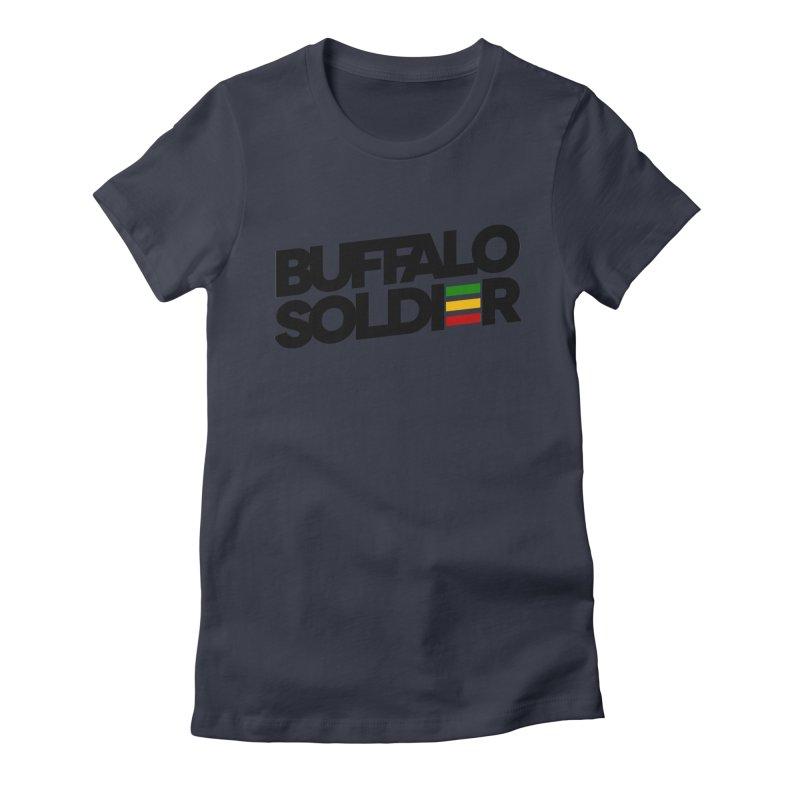 Buffalo Soldier (Dark) Women's Fitted T-Shirt by Rasta University Shop