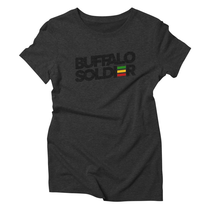 Buffalo Soldier (Dark) Women's Triblend T-Shirt by Rasta University Shop