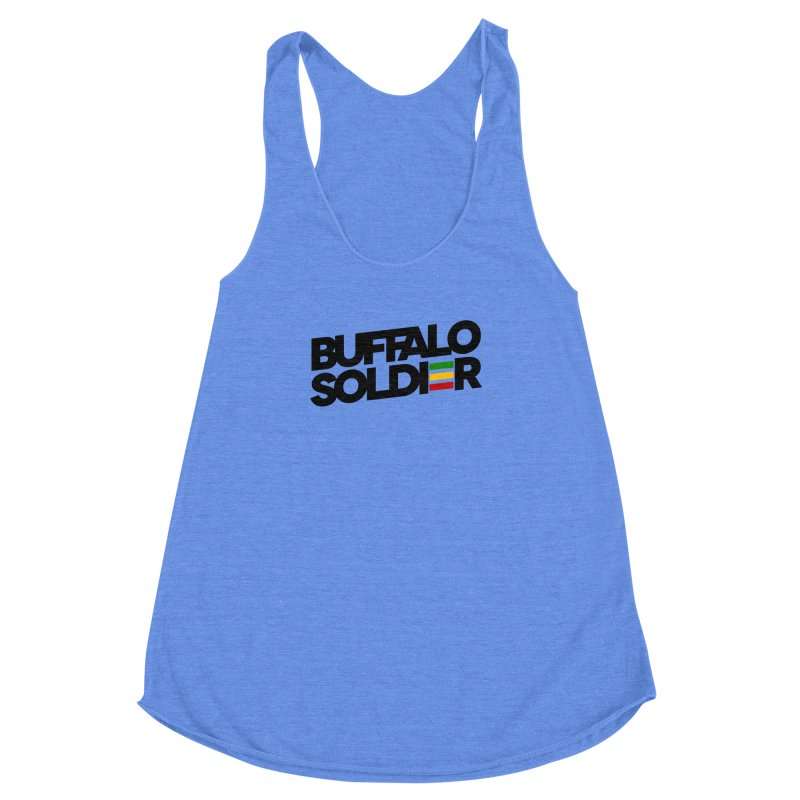 Buffalo Soldier (Dark) Women's Racerback Triblend Tank by Rasta University Shop